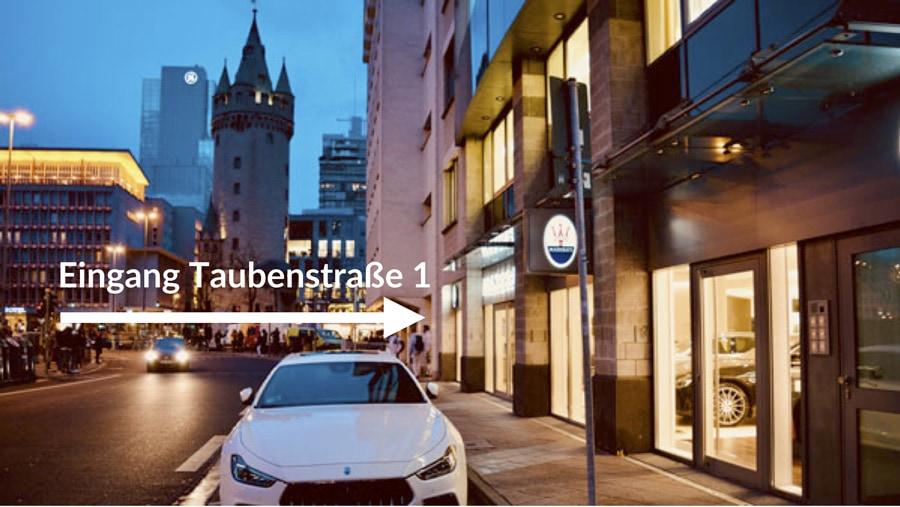 Eingang Taubenstraße 1