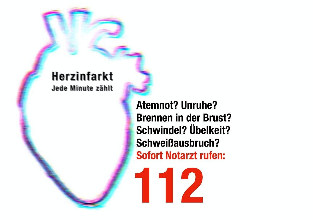 Herzinfarkt bei diesen Symptomen Notarzt rufen
